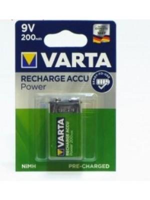 Varta Power Accu & R2U 56722 9V 200mAh BL1