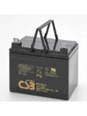 CSB accu 12V 34Ah 196x130x154(178)mm Gel