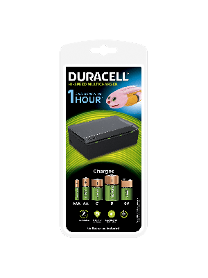Duracell CEF22 MultiCharger 8AA/AAA +4C/D +9V