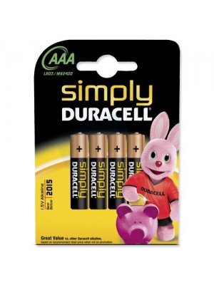 Duracell MN2400 AAA Simply BL4