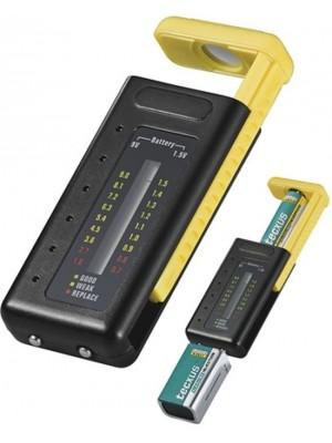 Goobay LCD battery tester AA AAA C D N 9V