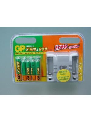 GP120FOCPACK NiMh 4xAAA+4xAA 950mAh/2300mAh BL8