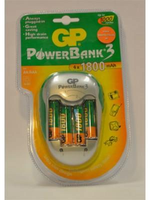 Lader Powerbank 3 KB04GS 1800mAh (AA,AAA)