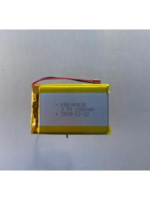 LiPo model 614063 3,7V 2000mAh 63,5x40,2x6,2mm
