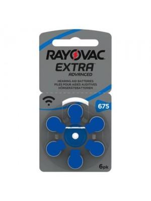 Rayovac 675 Extra MF Blister 6