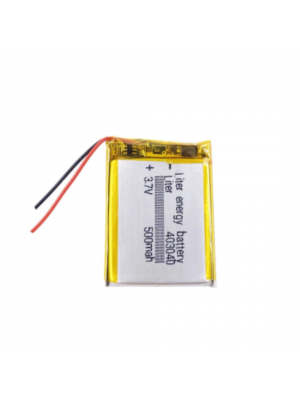 Liter LIPO 403040 3.7V 500mAh Wired Zonder Connector