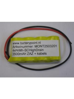 4xNiMh-SC High Drain 3500mAh ZAZ + kabels
