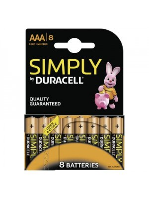 Duracell MN2400 AAA Simply BL8
