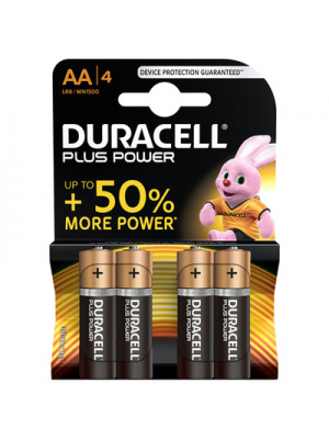 Duracell Plus Power MN1500 AA 1.5V BL4