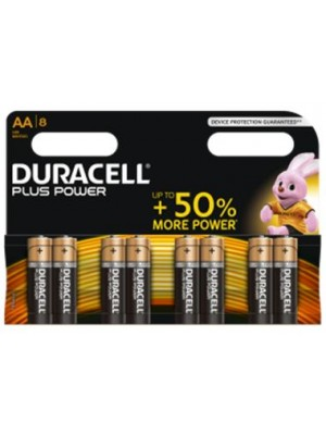 Duracell Plus Power MN1500 AA 1.5V BL8 5+3 Free