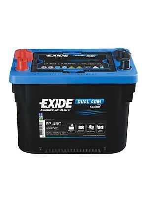 Exide Dual AGM accu EP450 12V 50Ah 260x173x206mm
