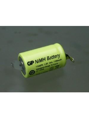 GP110AFH1A1P NiMh 2/3AF 1.2V 1100mAh met sold lipp