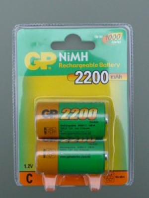 GP220CHCC2 NiMh C 1.2V 2200mAh BL2