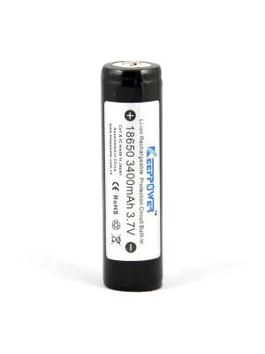 KeepPower 18650 3.7V 3.4Ah Li-ion cel