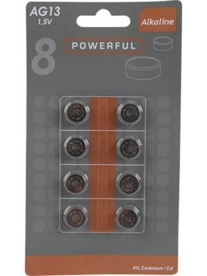 Powerful AG13/LR44 Alkaline batterijen BL8