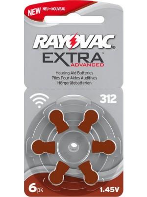 Rayovac 312 Extra Blister 6