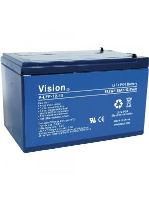 Vision LiFePo4 Accu 12V 15Ah 150x98x101mm