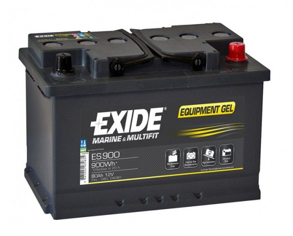 Exide Gel accu ES900 12v 80Ah 353x175x190