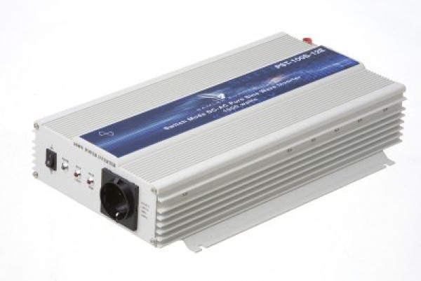 Inverter 12VDC/230VAC 1000W. PURE Sine Wave.