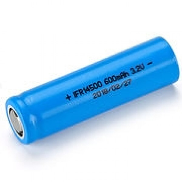 LiFePo4 rechargeable 14500 cel 3.2V 600mAh FlatTop