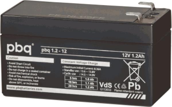 PBQ loodaccu 12V 1,2Ah VRLA VDS   Battery Point