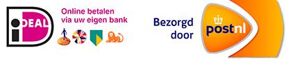 Wij accepteren ideal betalingen. Bezorging door PostNL