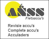 Voor uw fietsaccu's gaat u naar ANSS Fietsaccu's.
